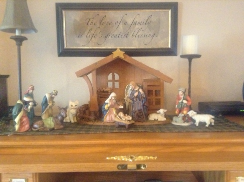 Of course, there would be a giant cat in the nativity scene. It just makes sense.