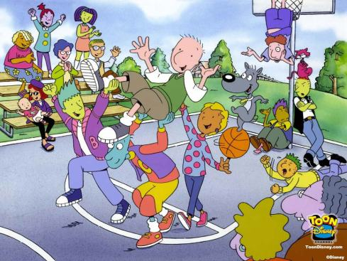 oug's theme song was the catchiest thing ever written. And I loved every character. Doug was like a middle-aged balding man stuck in a cartoon teenager's body.