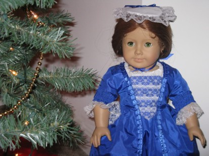 This is the doll I wanted and the outfit I wanted her to come in. And yes, under my family Christmas tree.