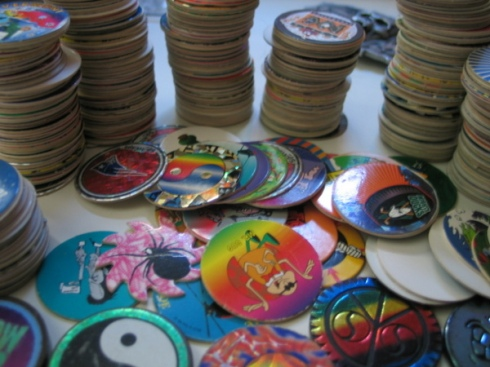 I have slammers, pogs, containers - the whole enchilada.