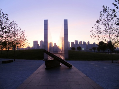 The Empty Sky Memorial in Jersey City, N.J.